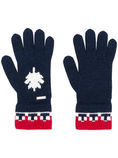 перчатки с контрастной отделкой Dsquared2