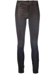 укороченные облегающие брюки из кожи J Brand