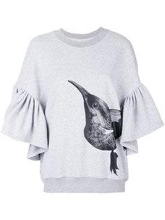 толстовка с оборками и принтом-птицей Ioana Ciolacu