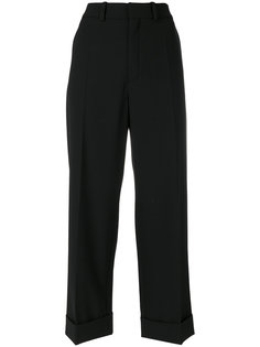 укороченные брюки с отворотами Chloé