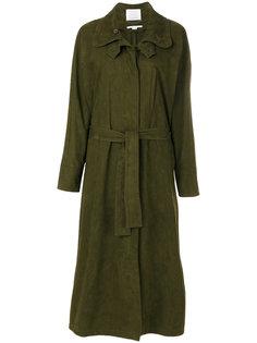 объемное длинное пальто с поясом Stella McCartney
