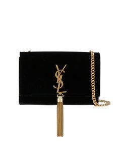 сумка через плечо с монограммой и кисточкой Saint Laurent