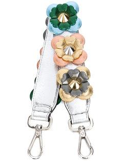маленькая лямка для сумки с цветочной аппликацией Fendi