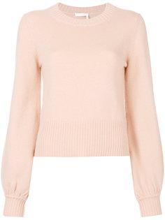 кашемировый пуловер с пышными рукавами Chloé