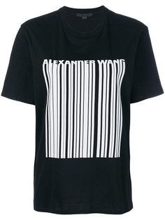 футболка с принтом в виде штрихкода Alexander Wang