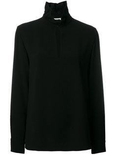 блузка с оборчатым воротником и разрезом спереди Sonia Rykiel