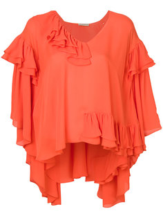 блузка-кейп с оборками Emilio Pucci