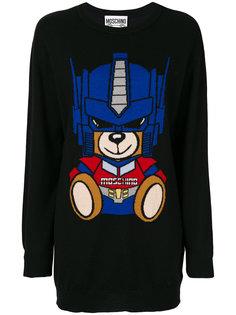 свитер с вышивкой медведя Moschino