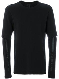 футболка с двойными рукавами Helmut Lang