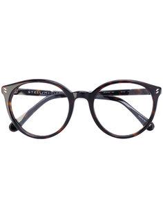 очки в оправе круглой формы Stella Mccartney Eyewear