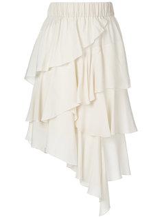 многослойная асимметричная юбка  Isabel Marant Étoile