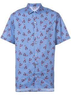 рубашка с принтом и короткими рукавами Lanvin
