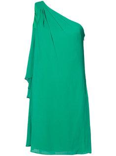 платье с драпировкой без рукавов Badgley Mischka