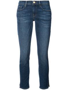 укороченные джинсы с разрезами Frame Denim