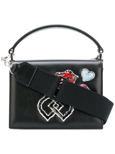 мини-сумка через плечо с вышивкой DD Dsquared2