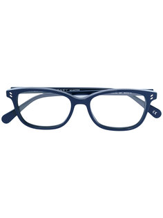 очки в оправе овальной формы Stella Mccartney Eyewear