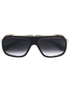 крупные солнцезащитные очки с золотистой отделкой Dita Eyewear