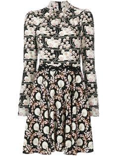 расклешенное платье с высокой горловиной Giamba