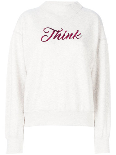 толстовка с вышивкой 'Think' Isabel Marant Étoile