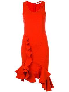 приталенное платье с воланами Givenchy