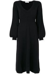 трикотажное платье с рукавами-колокол Chloé