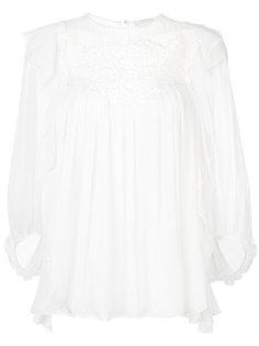 блузка с кружевной вставкой Chloé