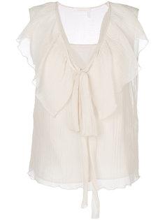 блузка с отделкой из рюшей See By Chloé