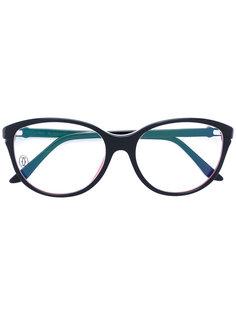 очки с круглой оправой Cartier