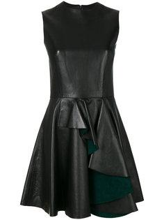 платье мини с оборкой  Alexander McQueen