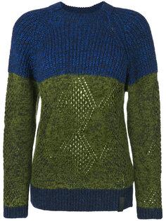 вязаный свитер в стиле колор-блок Kenzo
