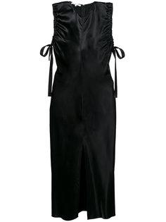 платье миди без рукавов с оборками  Helmut Lang