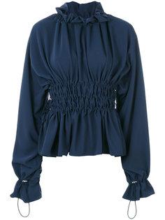 блузка с присборенной талией Mm6 Maison Margiela
