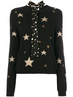 джемпер со звездами и завязкой на вороте  Red Valentino