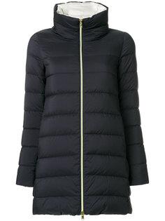 дутое пальто на молнии  Herno