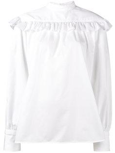 блузка с длинными рукавами и оборками  Helmut Lang