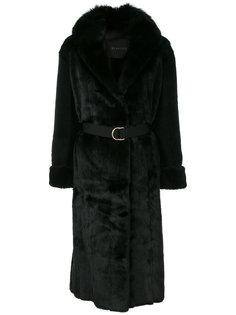удлиненное пальто под пояс Blancha