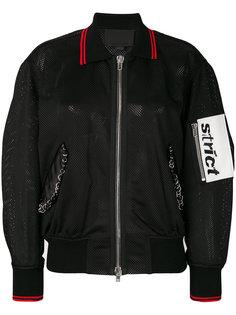 куртка-бомбер из сетчатого материала Alexander Wang