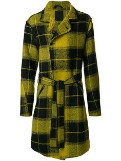клетчатое двубортное пальто Lost & Found Ria Dunn