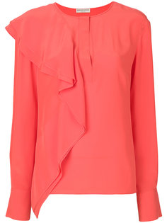 блузка с драпированной оборкой Emilio Pucci
