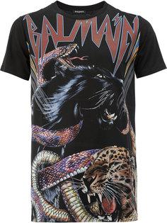 футболка с принтом животных Balmain