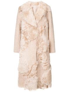 пальто длины миди с меховой отделкой Drome