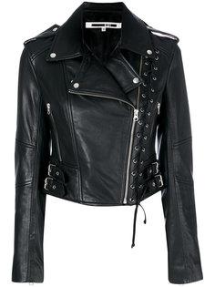 байкерская куртка с отделкой люверсами McQ Alexander McQueen