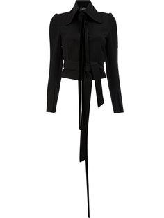 укороченный пиджак с завязкой на бант Ann Demeulemeester