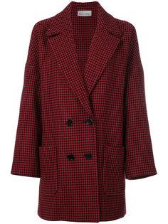 пальто в ломаную клетку Red Valentino