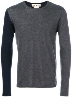 двухцветный свитер Marni