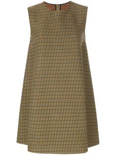 платье шифт с принтом  Mm6 Maison Margiela