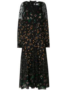 полупрозрачное платье с цветочным принтом  Red Valentino