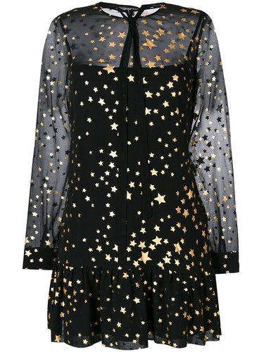 полупрозрачное платье со звездами  Red Valentino