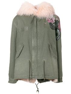 куртка капюшоном и мехом лисы  Mr & Mrs Italy