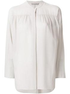 полупрозрачная блузка с присборенной деталью Vince
